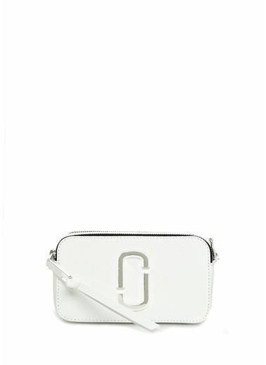 Marc Jacobs Marc Jacobs Snapshot  Logolu Kadın Deri Omuz Çantası 101547847 Beyaz